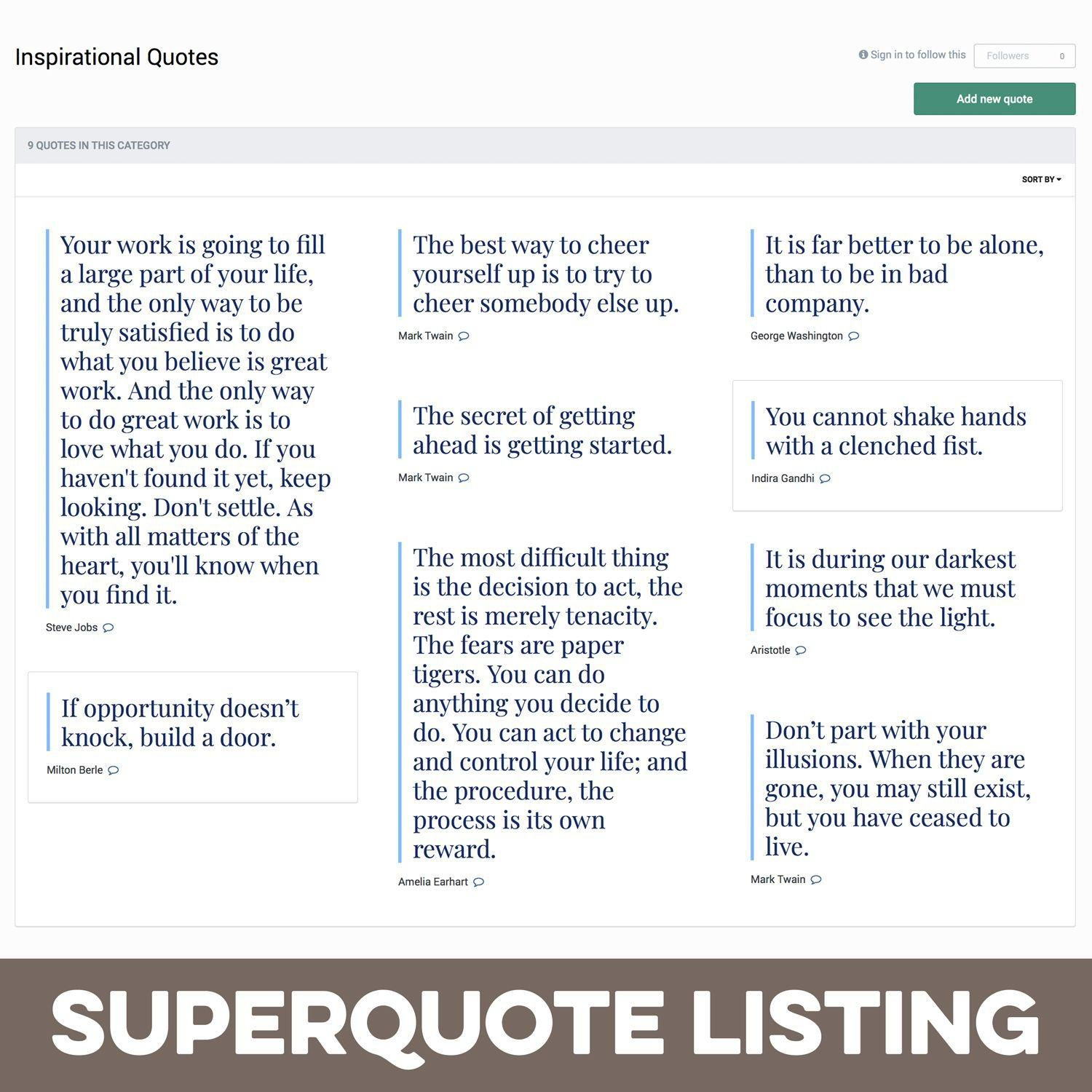 Pages SuperQuote